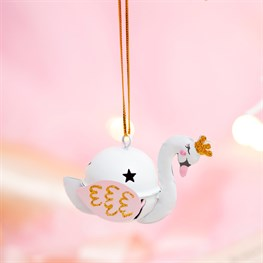 Freya Swan Hanging Bell Decoration