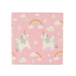 Set of 20 Rainbow Unicorn Napkins