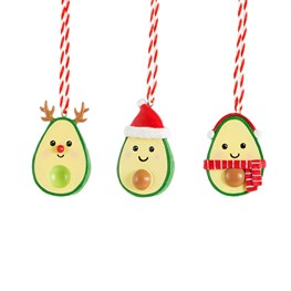 Set of 3 Avo Merry Xmas Hanging Decorations