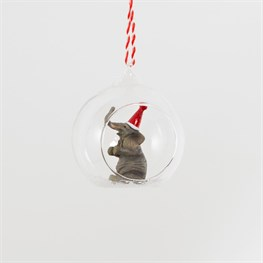 Christmas Party Elephant Open Bauble