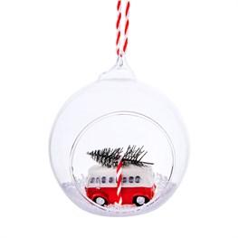 Coming Home For Xmas Camper Van Open Bauble