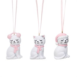 Cutie Cat Hanging Decorations - Set of 3