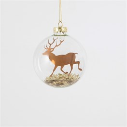 Gold Prancing Stag Star Storm Bauble