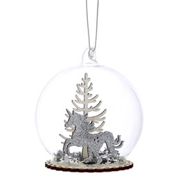 Winter Wonderland Forest Dome Bauble