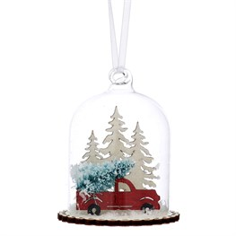 Winter Journey Scene Dome Bauble