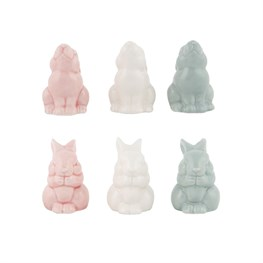 Pastel Bunny Standing Decoration Assorted