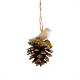 Mossy Acorn Bird Hanging Decoration