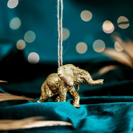 Luxe Gold Elephant Hanging Decoration