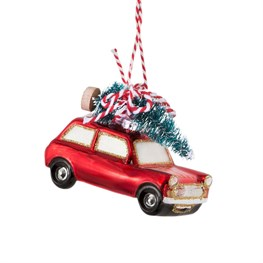 Coming Home For Xmas Red Car Hanging Decoration
