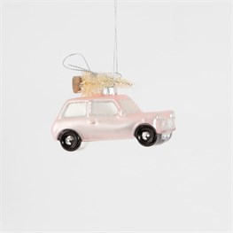 Coming Home For Xmas Pink Car Hanging Decoration