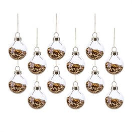 Pack of 12 Gold Mini Baubles