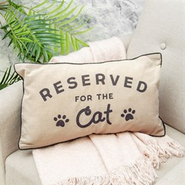 Reserved For Cat Decorative Cushion