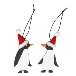Festive Penguin with Hat Hanging Decoration Assorted