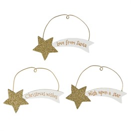 Shooting Star Christmas Hanging Decoration Assorted