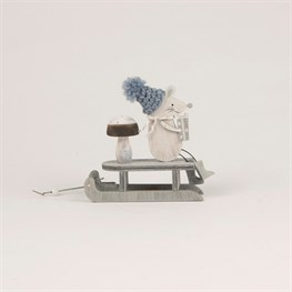 Mr Grey The Sleighing Mouse Standing Decoration