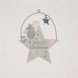 Mrs Grey The Mouse Christmas Star Hanging Decoration
