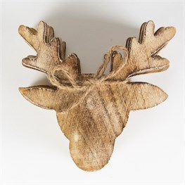 Wooden Stag Head Coasters - Set of 6