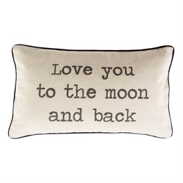 Love You to the Moon & Back Rustic Cushion