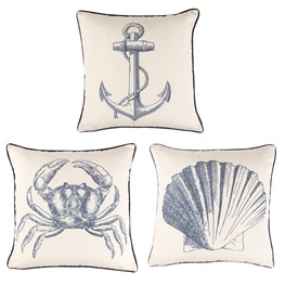 Vintage Sea Cushion With Inner Assorted