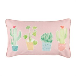 Pastel Cactus Cushion with Inner