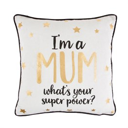 Mum Superpower Cushion With Inner