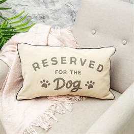 Cushion With Words Reserved For Dog
