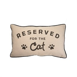 Cushion With Words Reserved For Cat