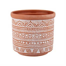 Tribal Geo Terracotta Planter