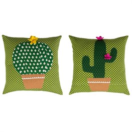 Colourful Cactus Cushion with Inner Assorted