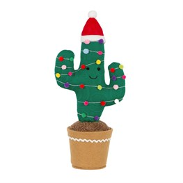 Large Knitted Festive Cactus Decoration