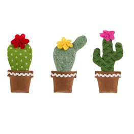 Blooming Cactus Hanging Decorations - Set of 3