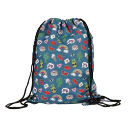 Patches & Pins Drawstring Bag
