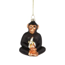 Chimpanzee with Banana Shaped Bauble