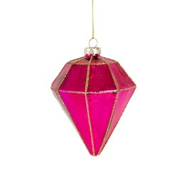 Pink Shine Bright Diamond Shaped Bauble