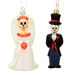 Day of The Dead Skeleton Shaped Baubles Assorted