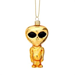 Gold Alien Shaped Bauble