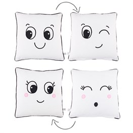 Fun Faces Cushion with Inner Assorted