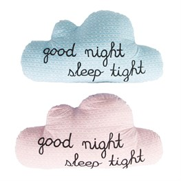 Good Night Sleep Tight Cloud Cushion Assorted