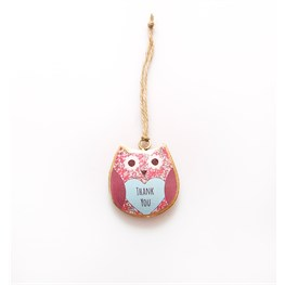 Daisy Mini Thank You Hanging Owl