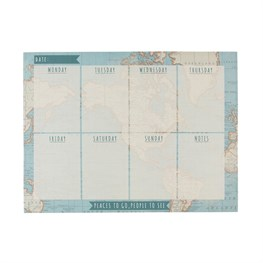 Vintage Map Weekly Planner Pad