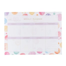 Paint Splash Weekly Planner Pad