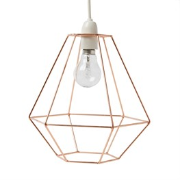 Copper Wire Diamond Lampshade