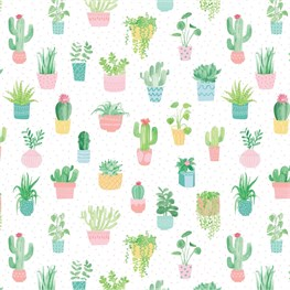 Pastel Cactus Wrapping Paper