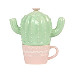 Pastel Cactus Teapot For One