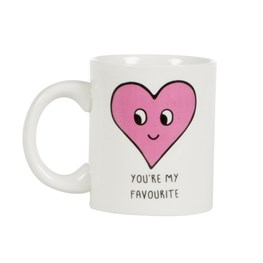 Patches and Pins Heart Mug