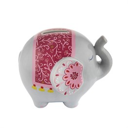 Mandala Elephant Money Bank
