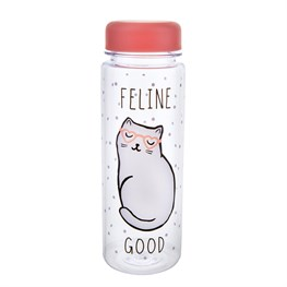 Cutie Cat Feline Good Clear Water Bottle