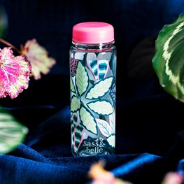Variegated Leaves Clear Water Bottle