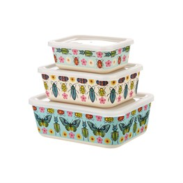 Set of 3 Butterflies and Beetles Lunch Boxes