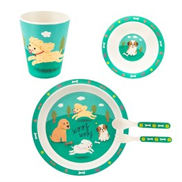 Puppy Dog Playtime Bamboo Tableware Set